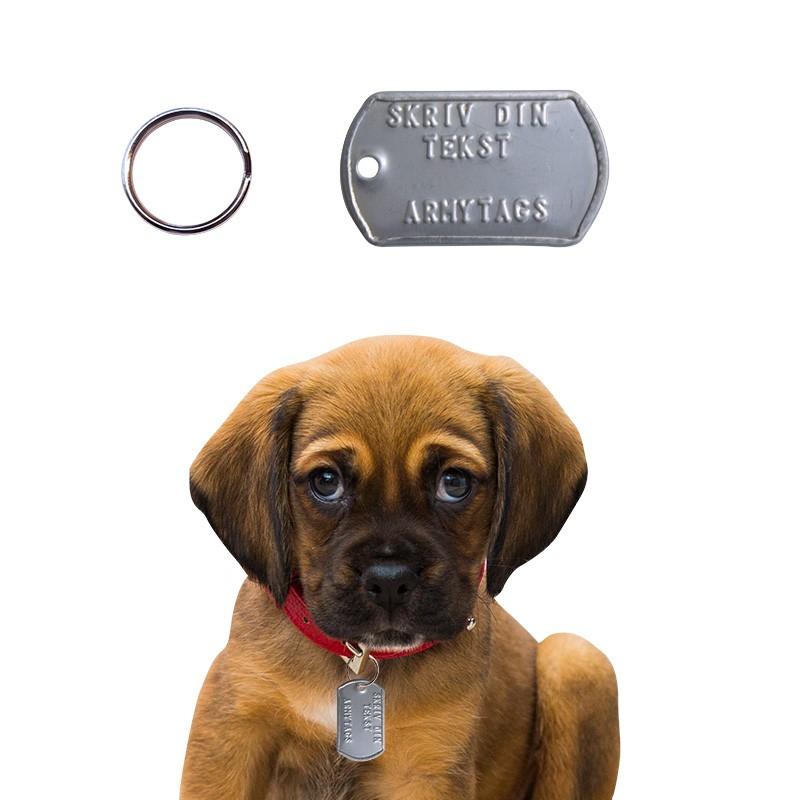 Mini Hundetegn - DogTags til hunde - Armytags.dk